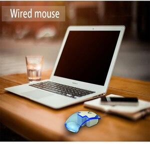 Image 5 - Şeffaf LED gece lambası optik kablolu fare fare sessiz 1200DPI Macbook Mac oyun fareler dizüstü masaüstü bilgisayar için yeni