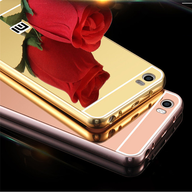 GULYNN NEW Luxury Plating Aluminum Metal Mirror Back Cover Case for Xiaomi Mi 2 3 4 4i 4c Max Redmi Note 2 2S 2A 3 3S Pro 4 4S 5