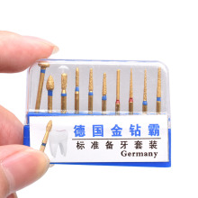 Titanium Plating Dental Burs Preparing Teeth Drills for Inlay/Onlay Preparation Suit Kit Dentist Tools Dentistry Lab Equipment 10 sets kacks dental product teeth kit for children dentistry for cavity preparation fit air scalers kavo sirona