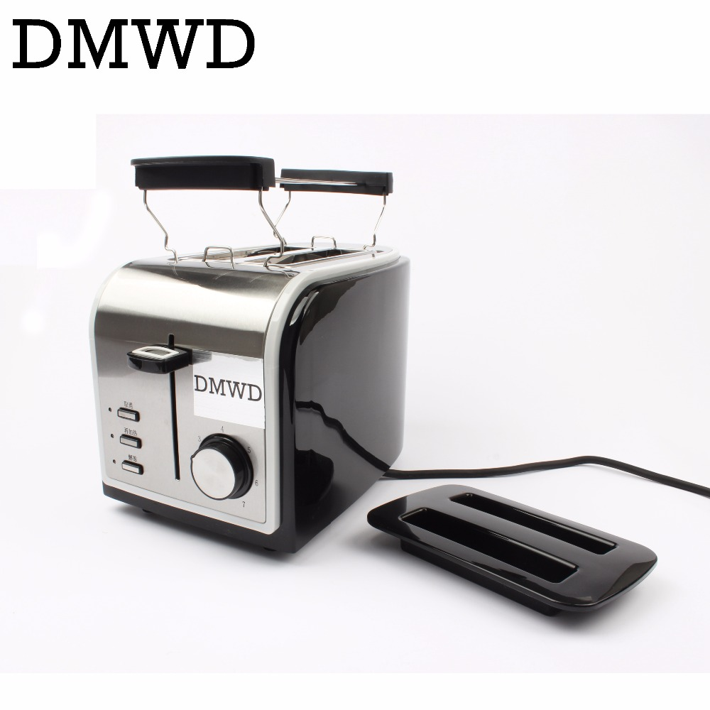 MINI Household Baking Bread Machine electrical Toasters Stainless Steel Breakfast Machine Toast grill oven 2 Slices EU US plug bread toast crumbs