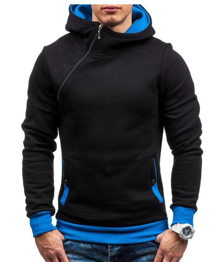 HEYKESON Brand 2017 Hoodie Oblique Zipper Solid Color Hoodies Men Fashion Tracksuit Male Sweatshirt Hoody Mens Purpose Tour XXL HEYKESON Brand 2017 Hoodies, with an chest Zipper HTB1Z5Mod6uhSKJjSspmq6AQDpXaM