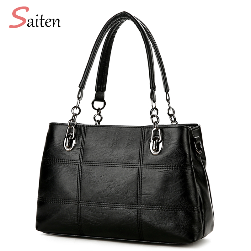 Fashion Handbags Women Bag 2017 New PU Leather Casual Tote High Quality  Shoulder Bags ladies Hand Bags  Bolsos Mujer Grandes 2017 genuine leather bag designer handbags high quality ladies shoulder bag women casual tote bags famous brands bolsos mujer