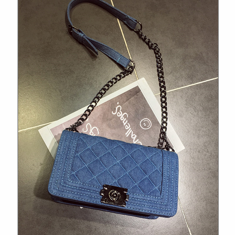 Brand Denim Bag Female Luxury Handbags Women Bags Designer Small Chain Shoulder Crossbody Bags For Women Messenger Bag famous brand handbags women shoulder bag designer chain leather bag small crossbody bags for women messenger bags