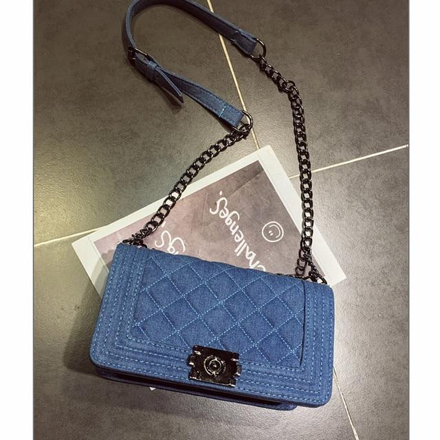 98231967dc6d Brand Denim Bag Female Luxury Handbags Women Bags Designer Small Chain  Shoulder Crossbody Bags For Women Messenger Bag