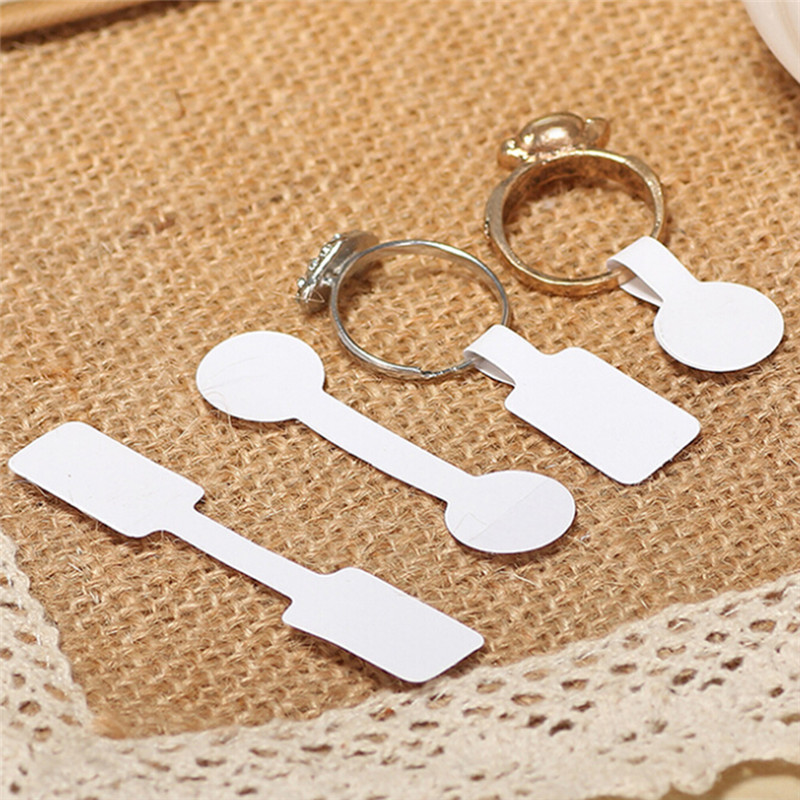100pcs/bag Blank Paper Price Tags Stickers For Craft Necklace Ring Bracelet Price Labels Tags Display Jewelry Making Findings