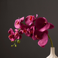 Top Grade 82cm Artificial Butterfly Orchid Flower For Home Decoration Silk Flower Branch Wedding Party Sample Room Phalaenopsis