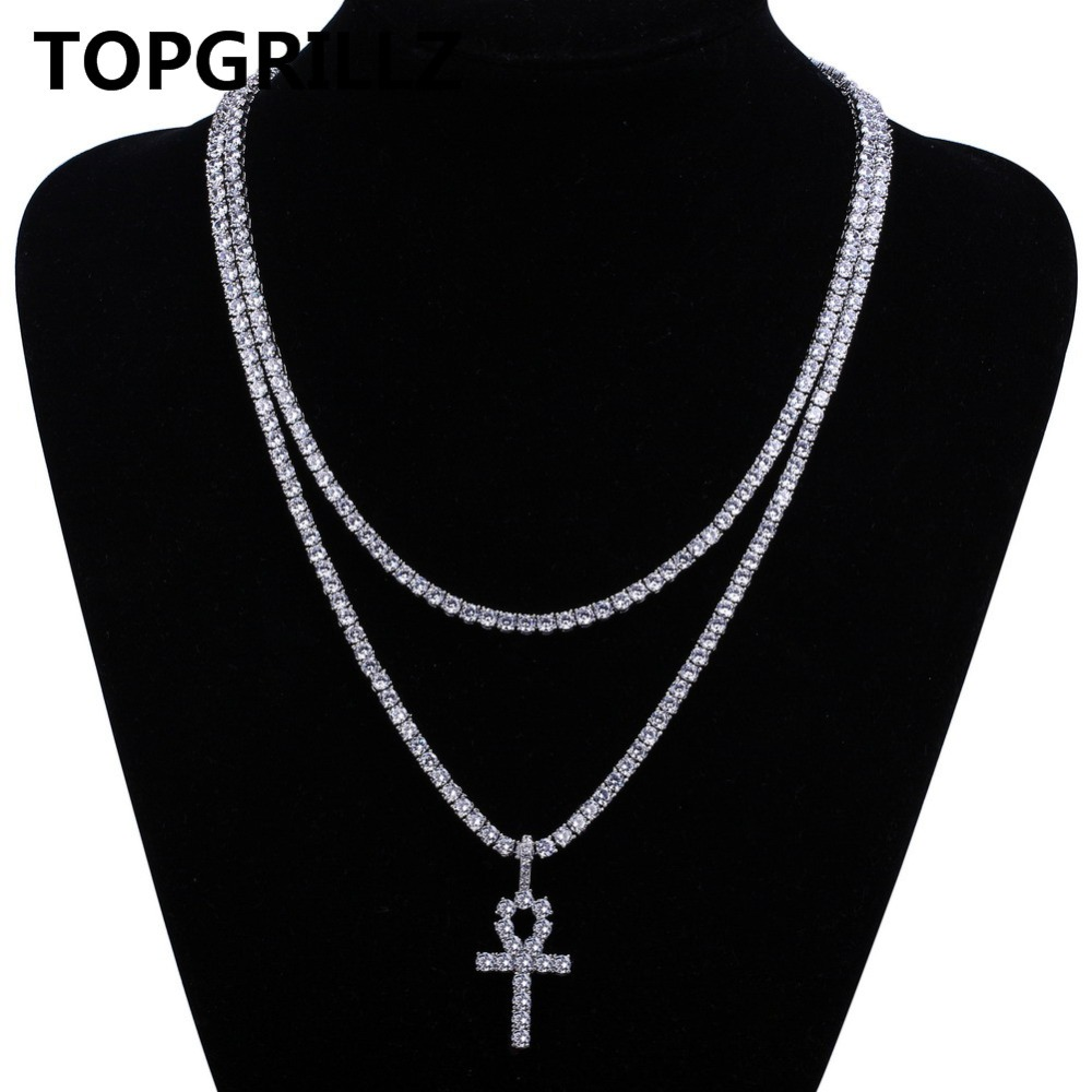 necklace row chains product pave micro products cubic image cz premium zircon chain tennis
