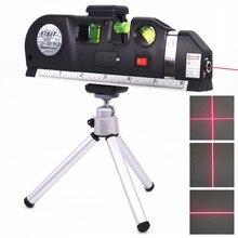 Laser nível vertical fita medida ajustada multifunction padrão régua horizontal linhas cruzadas instrumento com tripé