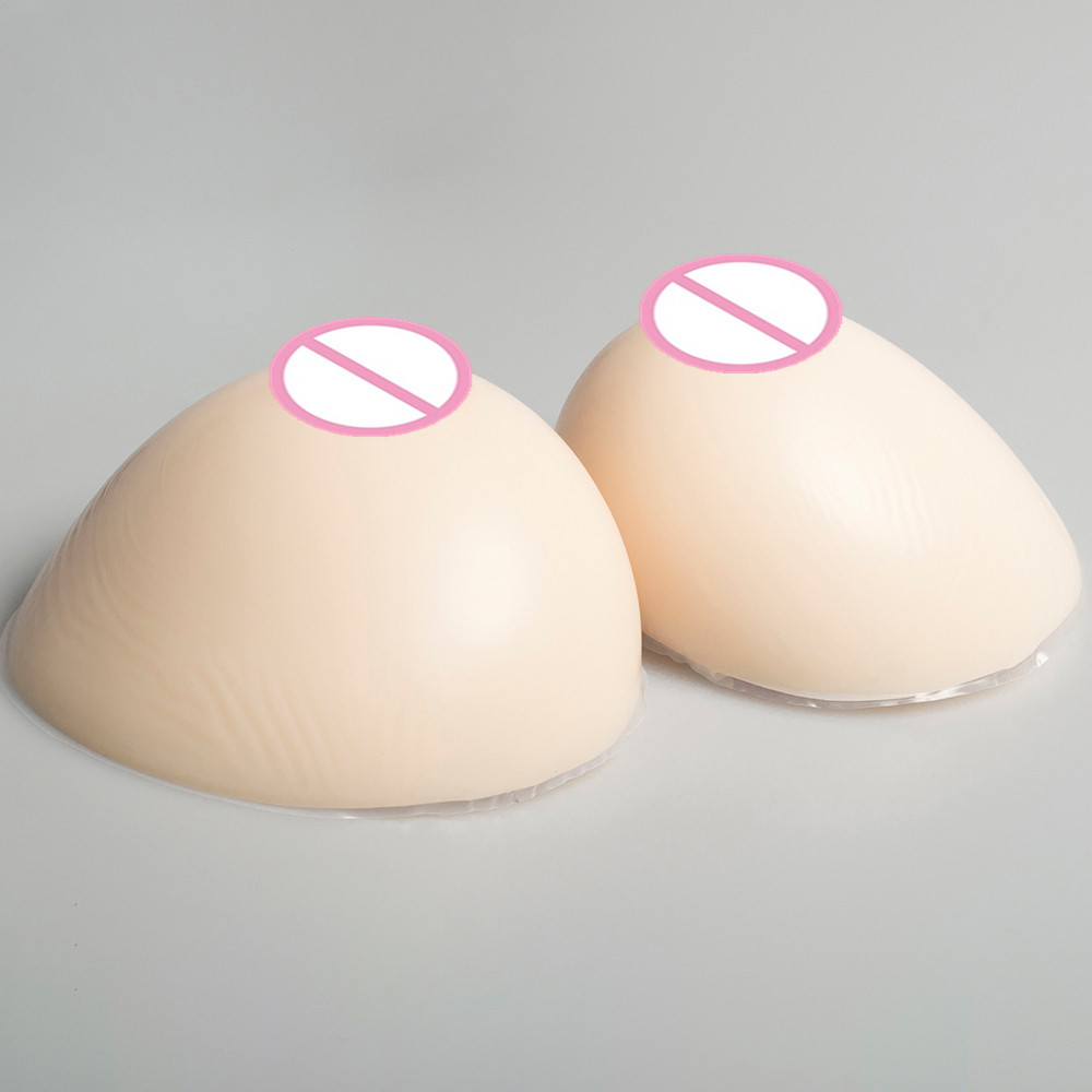 1200g/pair Silicone Breast Forms Perfect Breast Shape Shemale Crossdressing Transgender Artificial Boobs Breast Enhancer