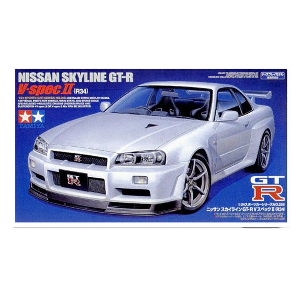 OHS Tamiya 24258 1 24 Skyline GTR Vspec 2 R34 Scale Assembly Car Plastic Model Building