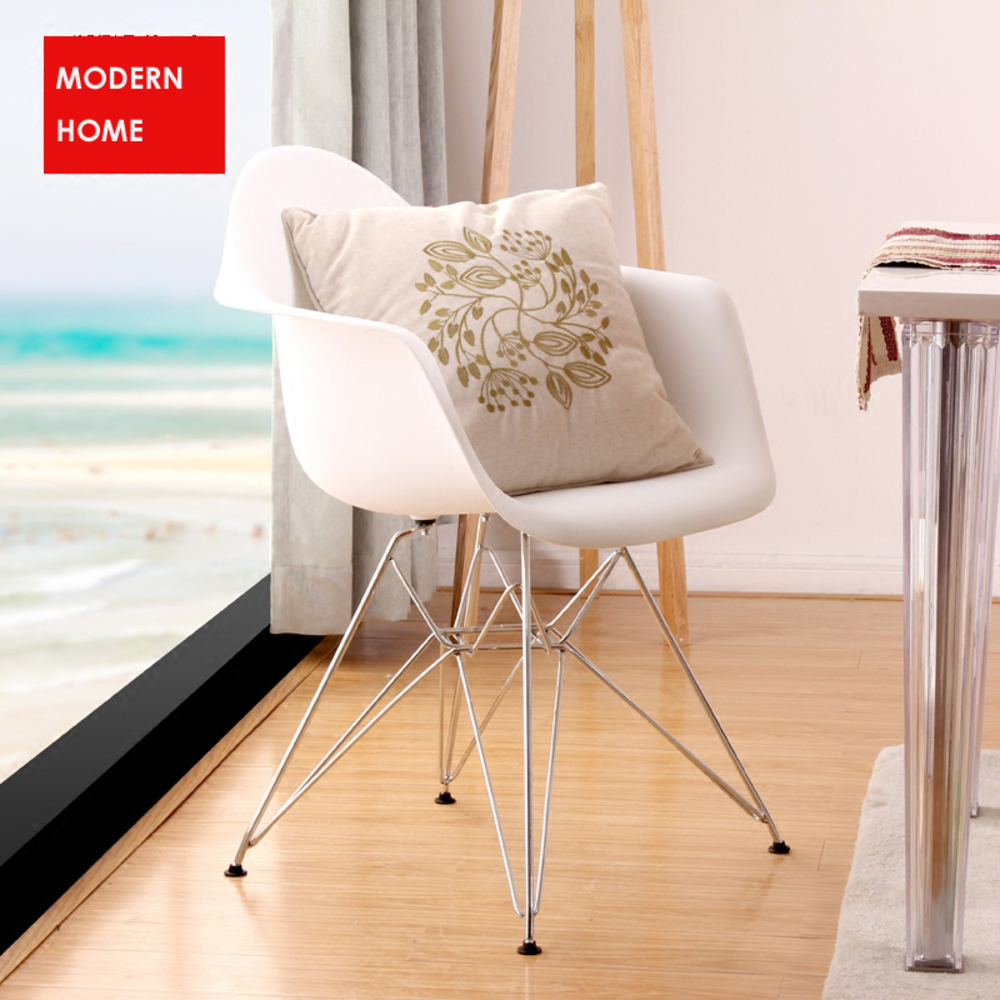 Classic Modern design fashion popular Dining Armchair / Plastic and Metal Steel Leg Dining Chair/Modern home Armchair-2PCS SET