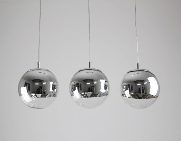 Plated Ball Pendant Light Silver Glass Restaurant Lamp Living Room Lamps Bar Stair In Lights From Lighting On