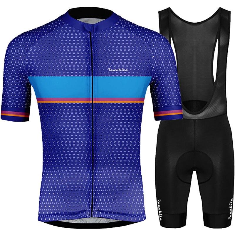 Roupa ciclismo Terno de manga curta 2019 RUNCHITA conjunto MTB Esporte Wear bicicleta ciclismo jersey manga curta maillot ciclismo kit