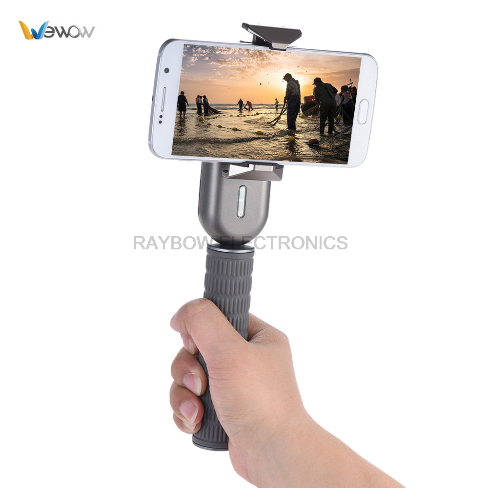 Wewow Fancy 1-Axis Handheld gimbal grip smartphone phone stabilizer for iPhone Samsung Huawei Xiaomi for Live Show Selfie Video yuneec q500 typhoon quadcopter handheld cgo steadygrip gimbal black