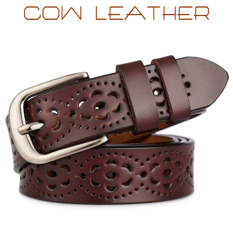 Hot Sale Fashion Women Belt Genuine Leather Belt Woman Luxury Jeans Cowskin Belt Female Top Quality Straps Lady Ceinture Femme