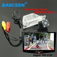 Car Backup Camera Bring Ccd Hd Image Dynamic Track Line Lens For NISSAN QASHQAI X TRAIL