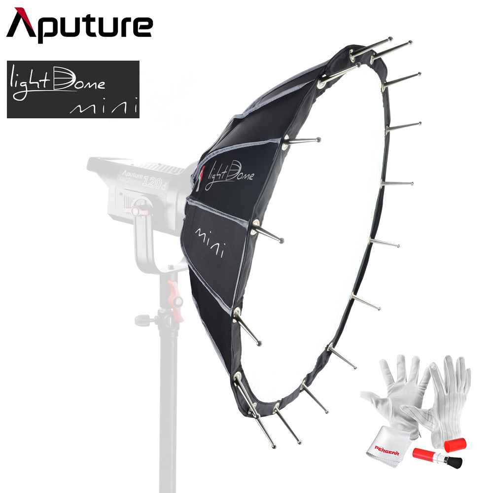 Aputure Light Dome Mini Soft Box Flash Diffuser For Light Storm 120D 300D Series Bowens Mount LED Lights 687mm Wide 250mm Deep