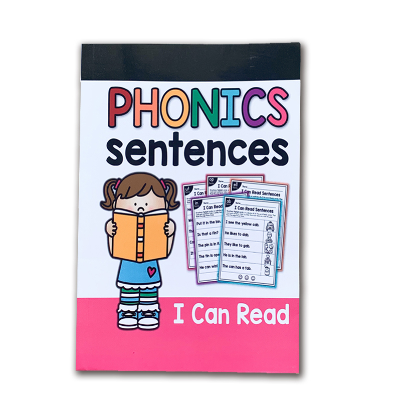113 Pages/English Phonics Exercise Book I Can Read Simple Sentences Training Practice Book Educational Kids Games For Children