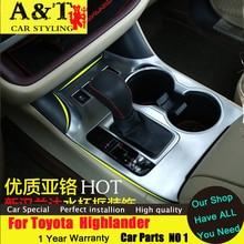 Тюнинг автомобилей для Toyota Highlander Стекло круг декоративная рамка подкладке Chrome стикер trim 2015 2016 Highlander внутренняя отделка