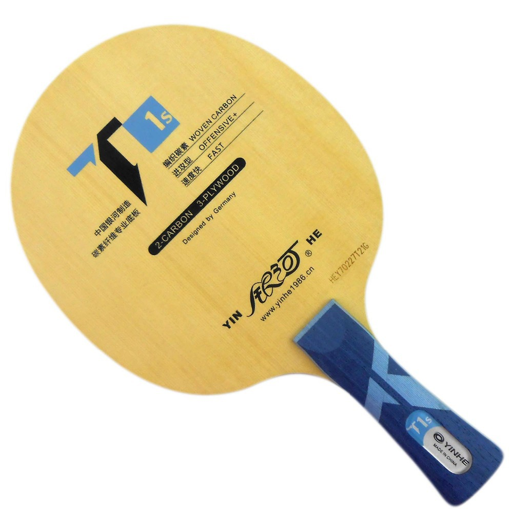 Galaxy YINHE T1s (WOVEN CARBON, T-1 Upgrade) Table Tennis / PingPong Racket galaxy yinhe emery paper racket ep 150 sandpaper table tennis paddle long shakehand st