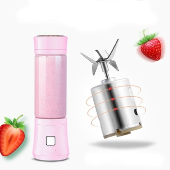 480ml USB Mini Blender Glass Bottle Juicer 6 Blades Portable Fruits Mixer Meat Grinder Juice Maker Machine Drop Shipping Gift