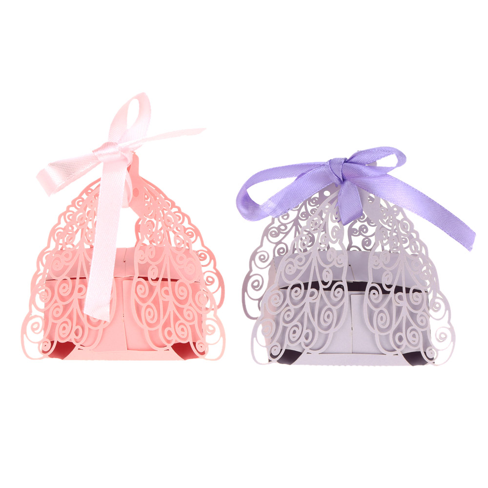 50pcs Romantic Butterfly DIY Candy Cookie Gift Boxes Wedding Party ...