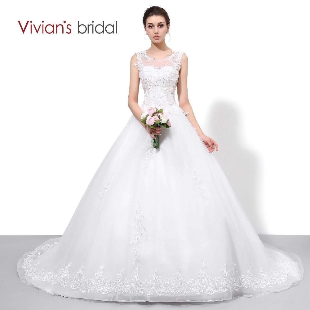 Poročne obleke Vivian's Poročne čipke A Line Country zahodne poročne obleke Neveste za neveste brez rokavov Poroka Ženske Poročne obleke