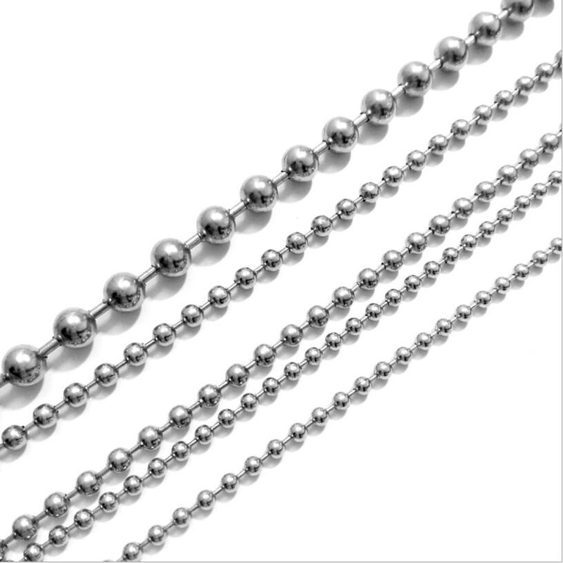 10M black 4mm Beaded Chain Stainless Steel Jewelry Findings Chain DIY Necklace