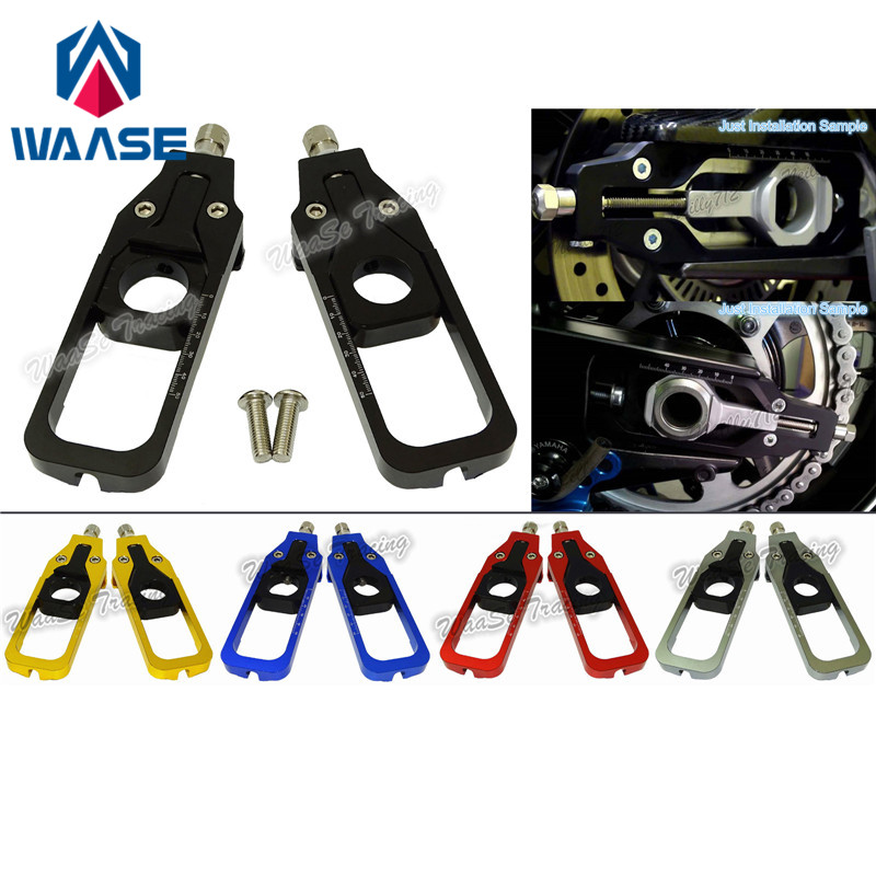 waase Motorcycle CNC Aluminum Chain Adjusters Tensioners Catena For BMW S1000RR 2009 2010 2011 2012 2013 2014 34mm piston kit for zenoah g260rc cy g260 r260 chung yang cy260rc baja hpi km ddm 25 4cc 26cc rc cylinder ring clip pin