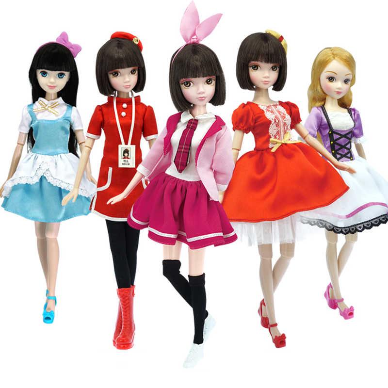 13 подвижных шарниров 1/6 3D глаза BJD куклы игрушки с аксессуарами одежда обувь сумка шляпа модная фигурка Nake Куклы Игрушки для девочек подарок