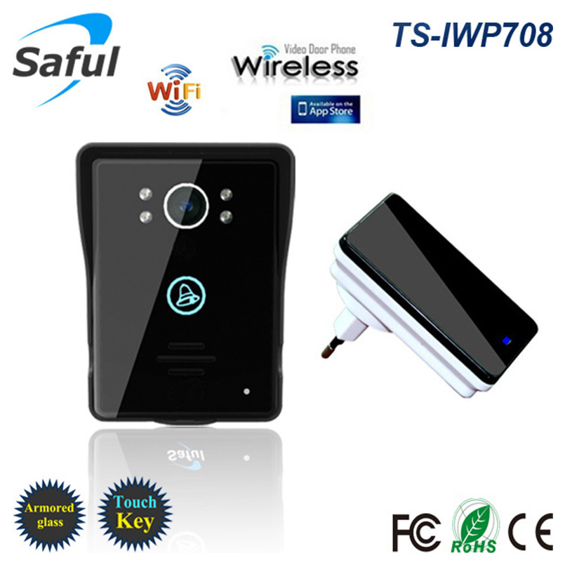 где купить Hot Wifi video door phone doorbell Wireless Intercom Support IOS Android Smart Phone or Tablet Remote call,unlock Free shipping дешево