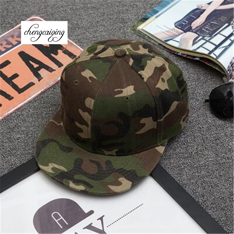The new camouflage hat men light board level along the hip-hop hip-hop cap hat men and women outdoor travel snapback hats