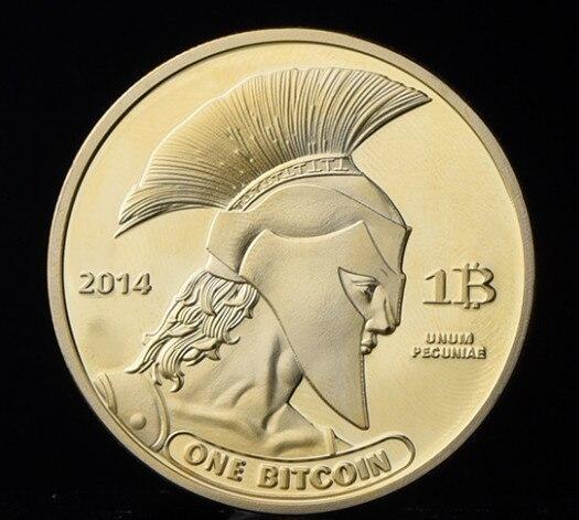 Позолоченные титановые памятные монеты BTC Биткойн коллекция физическая антикварная имитация дома вечерние украшения