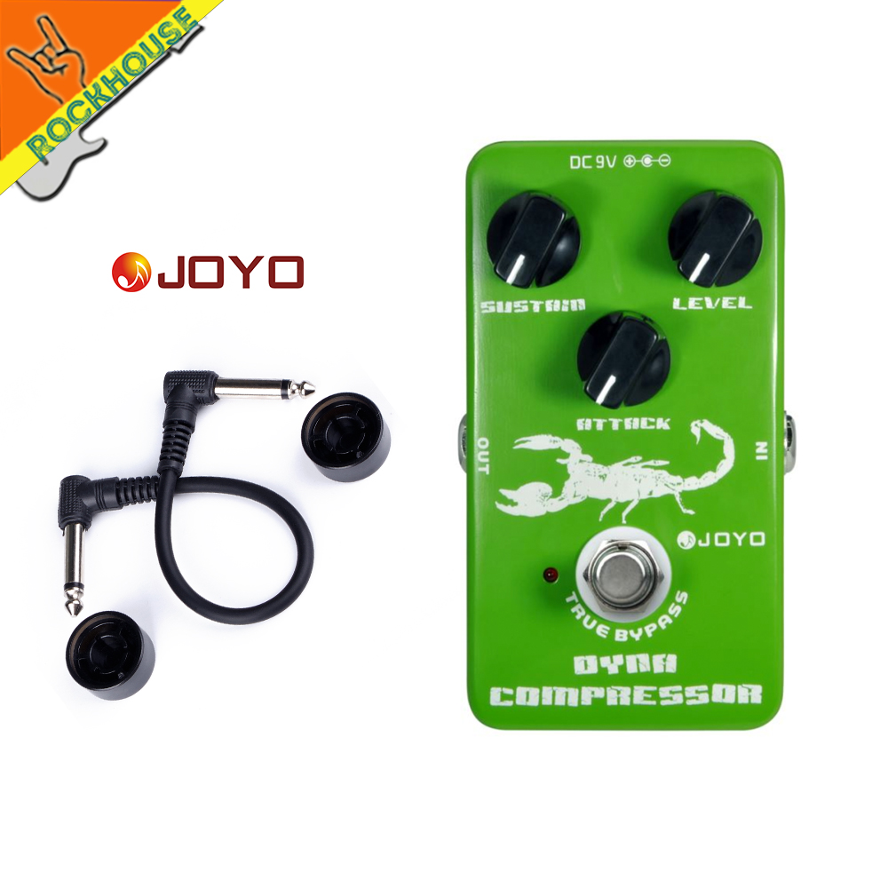 JOYO Dynamic Compressor Guitar Effects Pedal reduce the redundant dynamic ensure balanced Performance true bypass free
