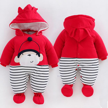 infant boys kids winter coveralls long sleeve coverall 2016 new arrival fat solid color fleece warm