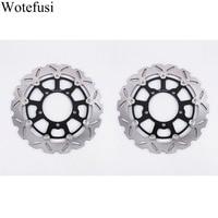 Wotefusi 2Pcs Front Brake Discs For SUZUKI GSXR600 750 2006 2007 GSXR1000 2005 2006 2007 2008 [PA631]