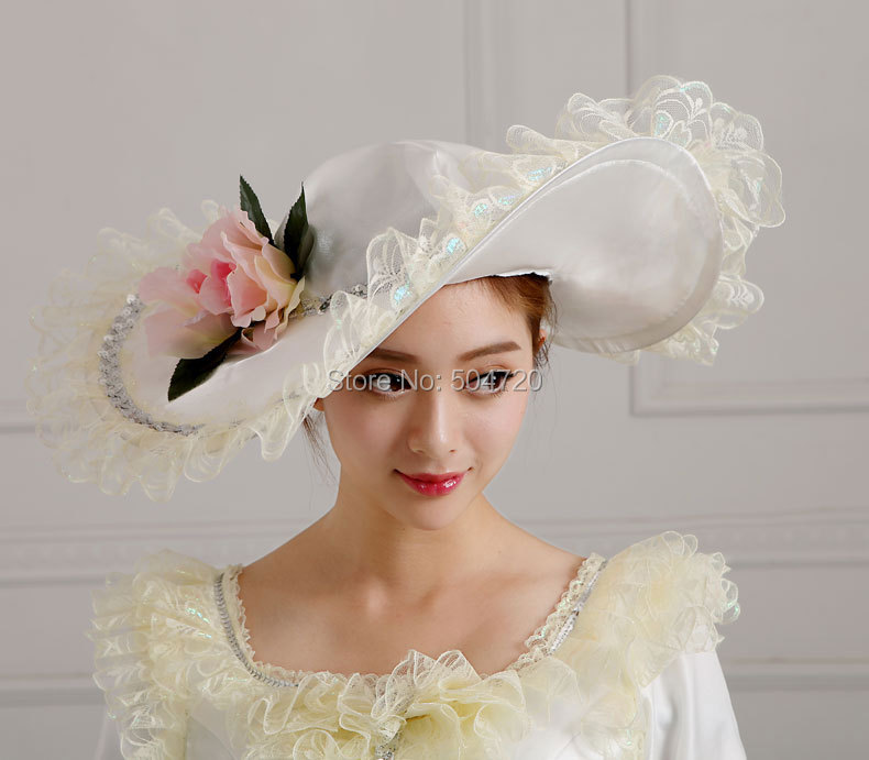 Sunny Vintage Ladies Palace Royal Civil War The Taylor Fascinator,wedding White Victorian Dress Hats Caps Women's Tea Party Hat Mz-17 Famous For Selected Materials, Novel Designs, Delightful Colors And Exquisite Workmanship
