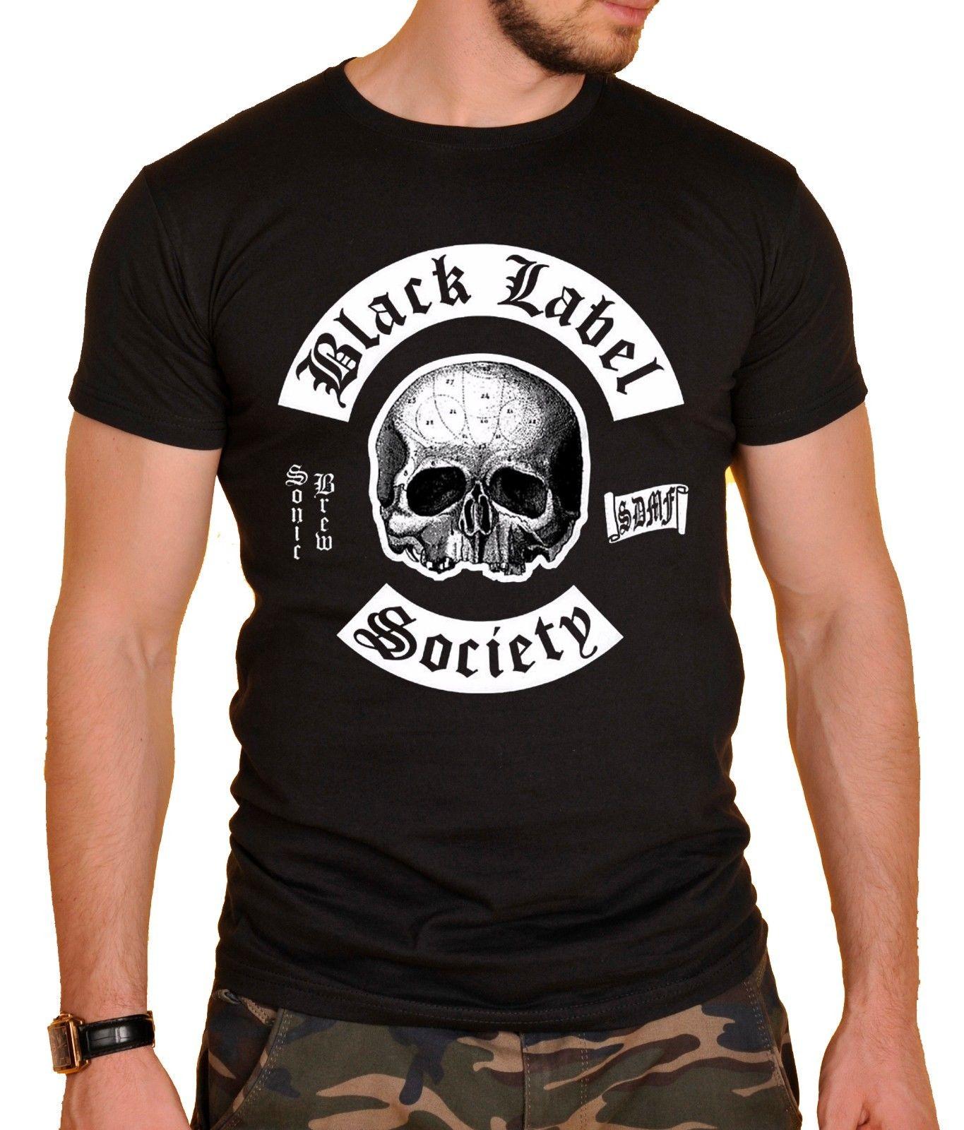 Black Label Society BLS Metal Rock Band Skull Men S Black T Shirt Size S To