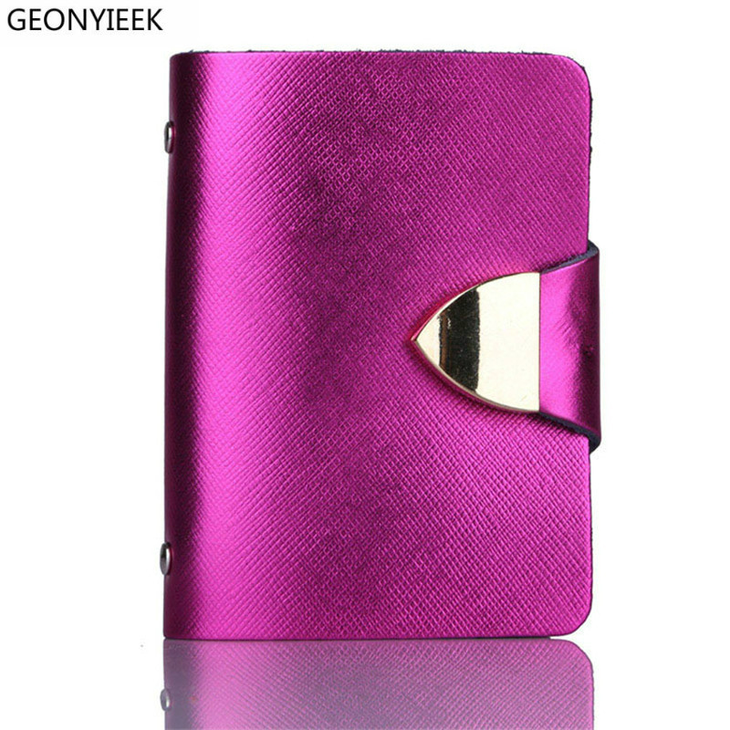 2018 New Fashion Unisex Credit Card Holders Genuine Leather Multi PVC Card Slots Metal Hasp Business Card ID Holders Cow Leather 2018 new fashion unisex credit card holders genuine leather multi pvc card slots metal hasp business card id holders cow leather