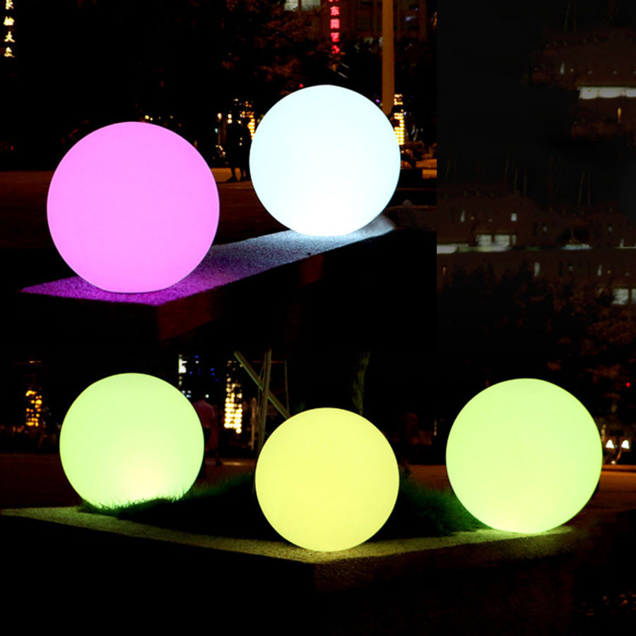 Waterproof LED Rechargeable Globe Ball Lamp Remote Control Christmas Holiday Lighting Outdoor Garden Lawn RGB LED Swimming Pool