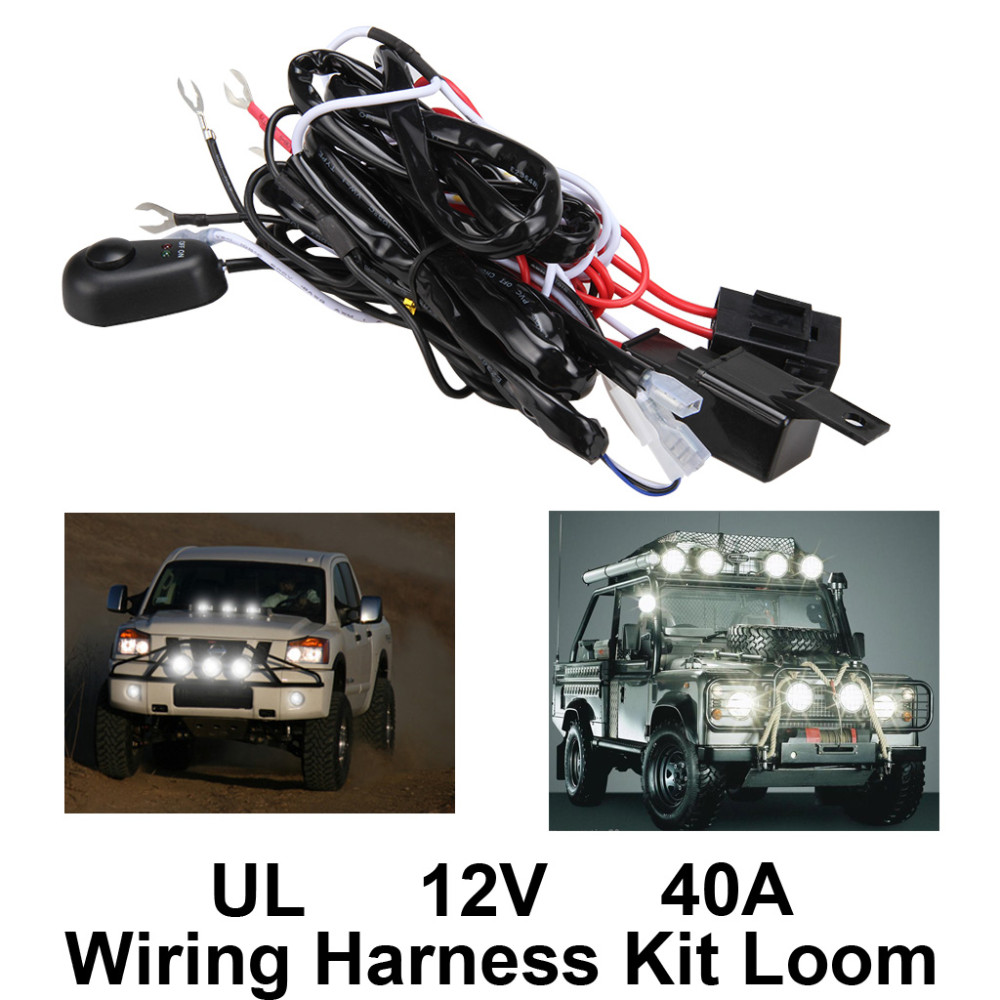 Universal Car Fog Light Wiring Harness Kit Loom For LED Work Driving on headlights kit, hose kit, exhaust kit, bumper kit, timing belt kit, transmission kit, air bag kit, fan kit, fuel line kit, car wiring kit, strat wiring kit, wiring light kit, wiring tools kit, coil kit, wiring connector kit, oil cooler kit, wiring thermostat, timing chain kit,