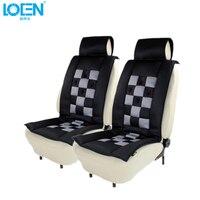 1PC Black White Leather Car Front Seat Cover Comfortable Cushion Pad Universal Sponge Cotton Car Styling Automobile Four Seasons