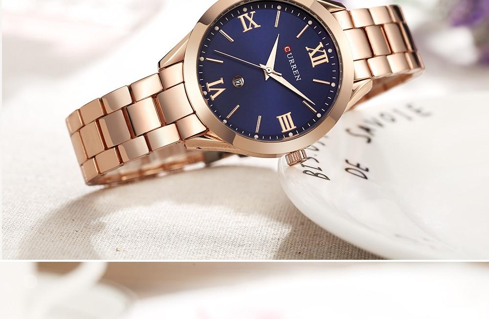 9007 aço feminino pulseira relógios relógio feminino relogio feminino montre femme