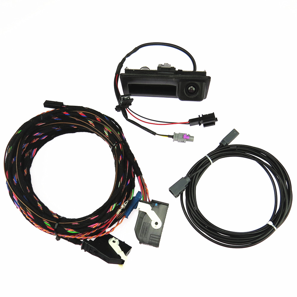 DOXA Combination Plug Cable Rear View Reverse Camera For VW Tiguan 5ND827566C 5ND 827 566C RCD510 RNS510 RNS310 RNS315 4E0927144 car rear view cameras reversing reverse camera for vw golf jetta tiguan rcd510 rns315 rns310 rns510