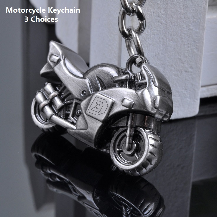 Superb Motorcyclists ! 3 Colors Cool Motorcycle Keychain Women Men Jewelry, Key Chains Key Rings Alloy Holder Keyring Souvenir