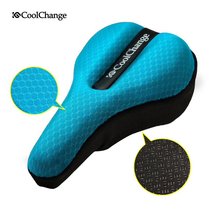 CoolChange Bicycle Seat Cover Sponge Bike Saddle Road Cycling Seat 3 Colors Comfortable Cushion Accessories comfortable cycling saddle seat wide bicycle seat mountain bike sponge big cushion ride bicycle accessories