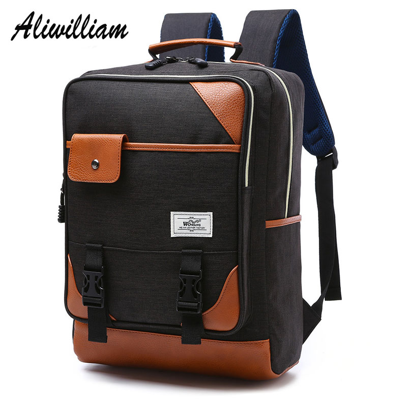 Brand Nylon Men Backpacks Women School Bags for Teenagers Boys Girls Big Capacity Travel Bag Laptop Computer Backpack mochila kingsons brand waterproof men women laptop backpack 15 6 inch notebook computer bag korean style school backpacks for boys girl