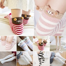 9d11afd5c Harajuku Kawaii Stockings Women Sweet Girls Long Socks Animal Velvet Warm Thigh  High Socks Cute Soft