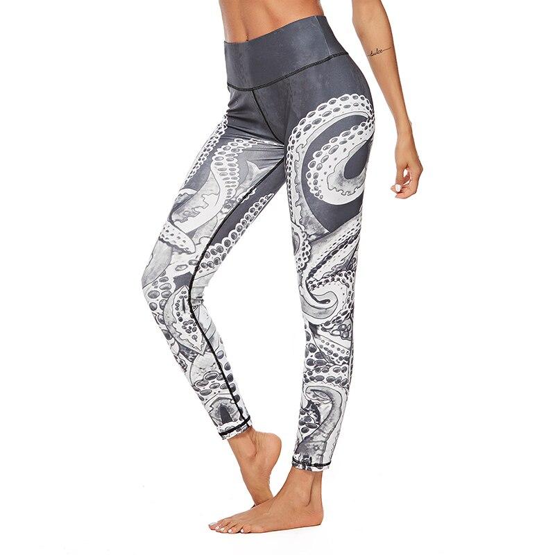 Navidad pantalones para las mujeres dama Casual elasticidad Skinny Leggins Mujer cintura alta de entrenamiento de impresión elástico pantalones leggings