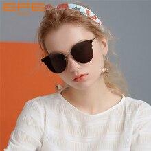 цены EFE Fashion Cat Eye Sunglasses For Women Vintage Designer Style Coating Mirror Lens Sun Glasses Female Shaped Oculos Gafas
